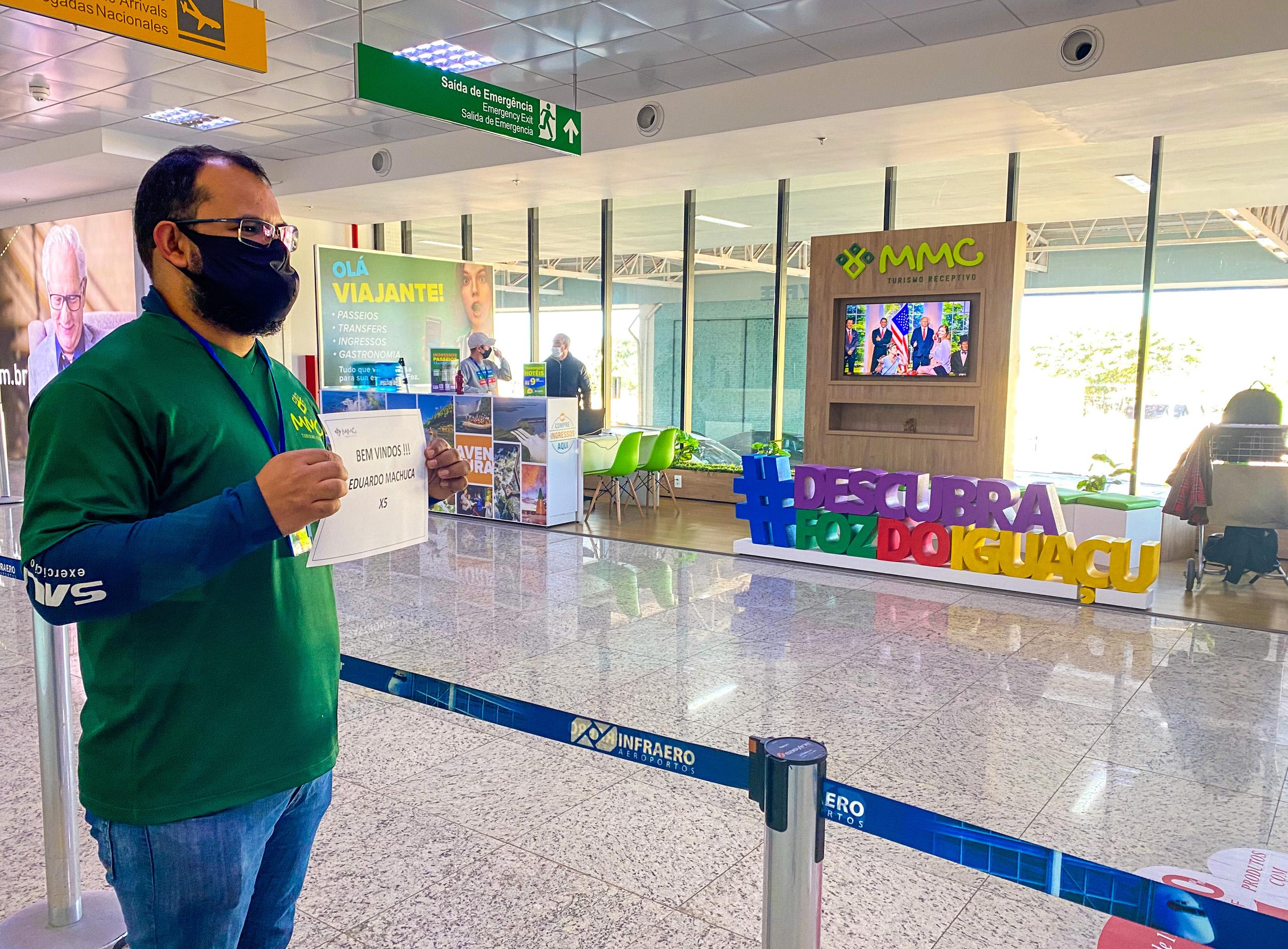 Chegando em Foz do Iguaçu com grande estilo.